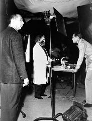 Arthur P JACOBS Edward G ROBINSON CHARLTON HESTON test Planète des singes 1968.jpg